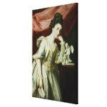 Retrato de una señora con una figurilla del Cupid Lienzo Envuelto Para Galerías
