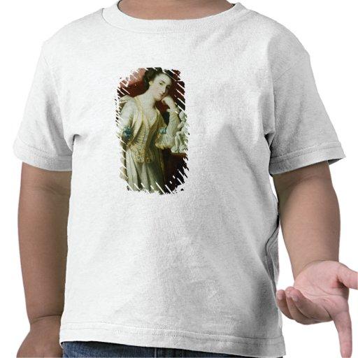 Retrato de una señora con una figurilla del Cupid Camiseta