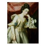 Retrato de una señora con una figurilla del Cupid Postal