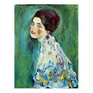 Retrato de una señora de Gustavo Klimt Tarjetas Postales