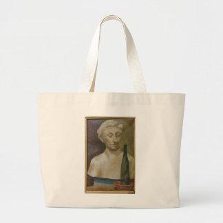 Retrato de una señora de la antigüedad 1990 bolsa tela grande