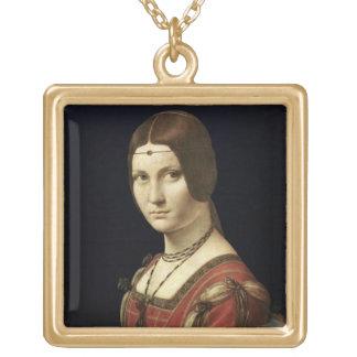 Retrato de una señora de la corte de Milano Colgante Cuadrado