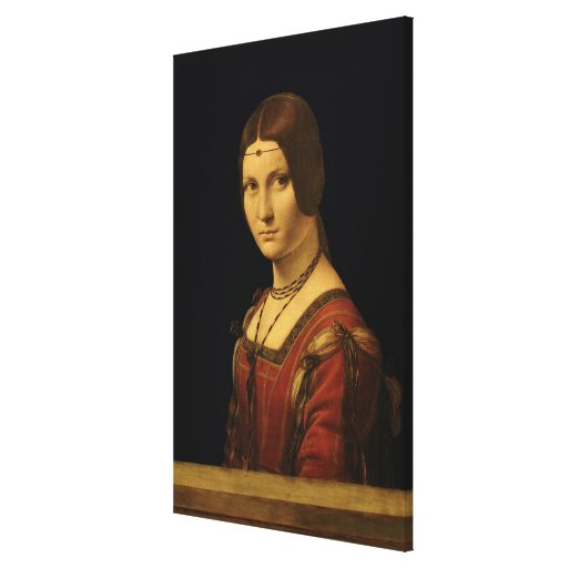 Retrato de una señora de la corte de Milano Impresión En Lienzo