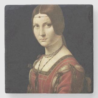 Retrato de una señora de la corte de Milano Posavasos De Piedra