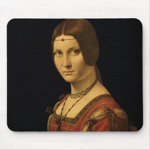 Retrato de una señora de la corte de Milano Alfombrilla De Ratón