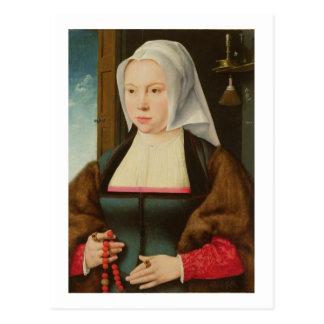 Retrato de una señora desconocida, 1527 (aceite en tarjeta postal