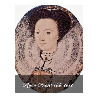 Retrato de una señora desconocida Oval By Nicholas Tarjetas Publicitarias