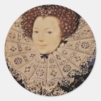 Retrato de una señora desconocida Oval By Nicholas Pegatina Redonda