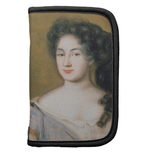 Retrato de una señora (en colores pastel en el pap organizador
