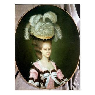 Retrato de una señora en un gorra tarjeta postal