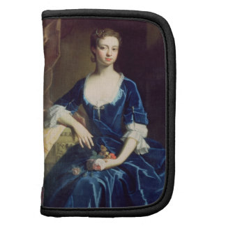 Retrato de una señora en un vestido azul del terci organizadores