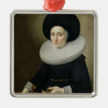 Retrato de una señora, envejecido 47, 1647 (aceite adorno