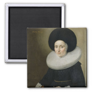 Retrato de una señora, envejecido 47, 1647 (aceite imán cuadrado