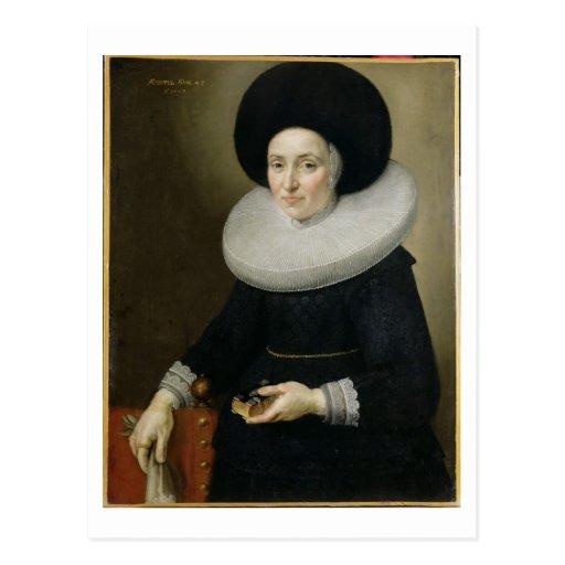 Retrato de una señora, envejecido 47, 1647 (aceite postales