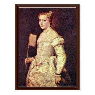 Retrato de una señora In White By Tizian Tarjetas Postales