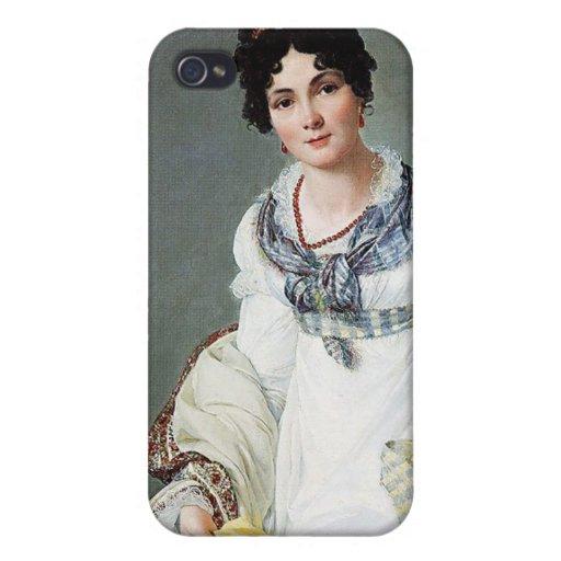 Retrato de una señora iPhone 4 cárcasas