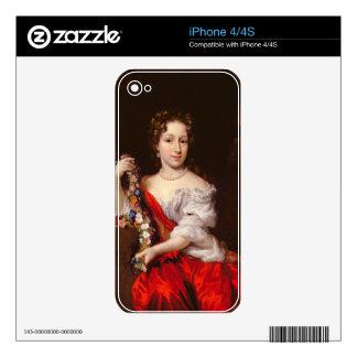 Retrato de una señora joven (aceite en lona) calcomanías para iPhone 4S