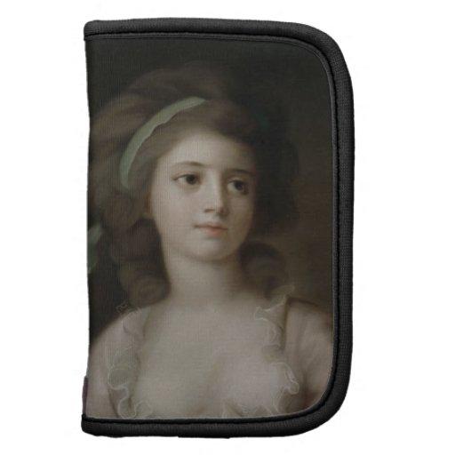 Retrato de una señora joven (en colores pastel en  organizadores