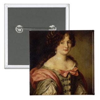 Retrato de una señora joven pin cuadrada 5 cm