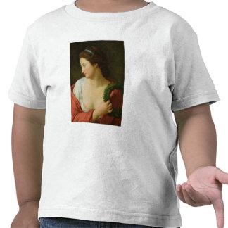 Retrato de una señora joven camiseta