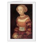 Retrato de una señora joven por Lucas Cranach (i) Felicitaciones