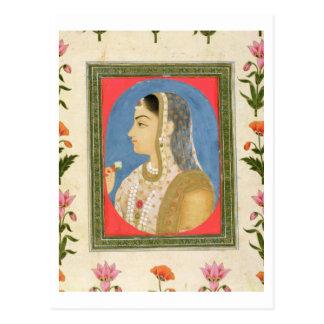 Retrato de una señora noble, de la pequeña alba de postal
