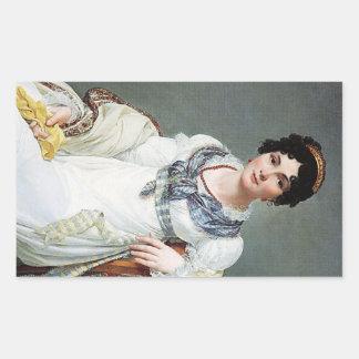 Retrato de una señora rectangular altavoz
