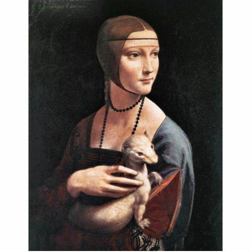 Retrato de una señora With An Ermine (Cecilia Gall Fotoescultura Vertical