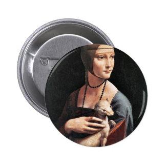 Retrato de una señora With An Ermine (Cecilia Gall Pin Redondo 5 Cm