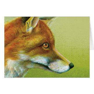 Retrato de una tarjeta diaria del zorro