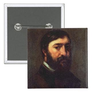 Retrato de Urbain Cuenot 1846 Pin Cuadrado