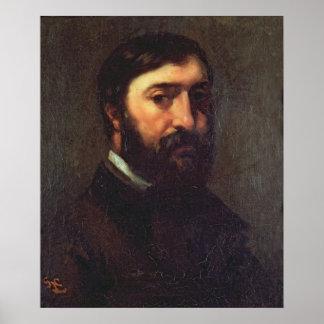 Retrato de Urbain Cuenot 1846 Póster