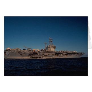"""Retrato de """"USS Nimitz"""", portador de propulsión nu Felicitaciones"""