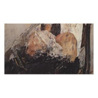 Retrato de Valentin Serov de Nadezhda Derviz, niño Plantillas De Tarjeta De Negocio