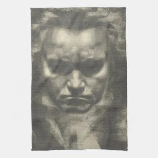 Retrato de Van Beethoven Toalla De Mano