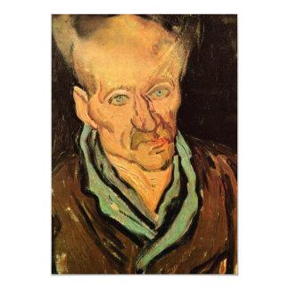 """Retrato de Van Gogh de un hospital paciente de Invitación 5"""" X 7"""""""