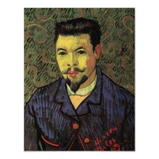 Retrato de Van Gogh del doctor Felix Rey, arte del Invitación 10,8 X 13,9 Cm
