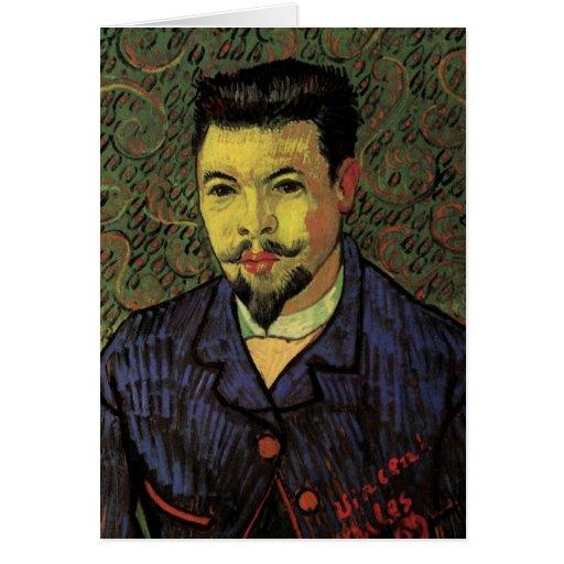 Retrato de Van Gogh del doctor Felix Rey, arte del Tarjeta De Felicitación
