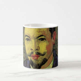 Retrato de Van Gogh del doctor Felix Rey, arte del Taza