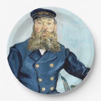 Retrato de Van Gogh el | del cartero José Roulin Plato De Papel De 9 Pulgadas