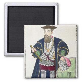 Retrato de Vasco de Gama Iman Para Frigorífico