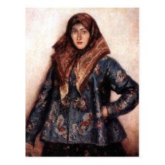 Retrato de Vasily Surikov- de L.T. Matorina Postal