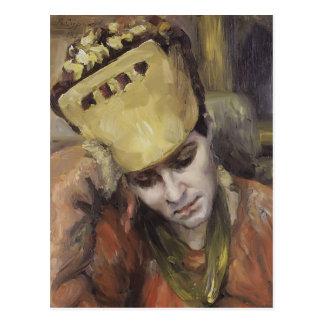 Retrato de Vasily Surikov- de la mujer con el koko Tarjetas Postales