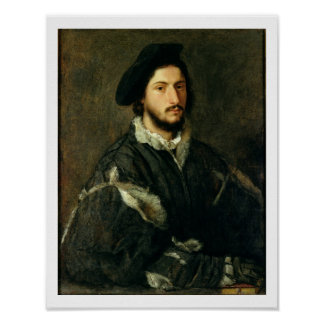Retrato de Vicente Mosti (aceite en lona) Poster