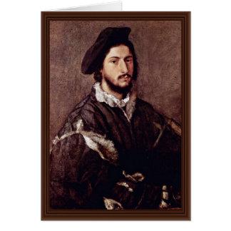 Retrato de Vicente Mosti por Tizian Tarjeta De Felicitación