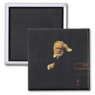 Retrato de Victor Hugo 1879 Imán Cuadrado