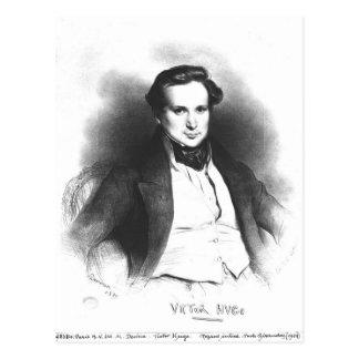Retrato de Victor Hugo Postal