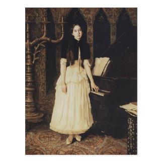 Retrato de Victor Vasnetsov- de Helena Prahovo Tarjeta Postal
