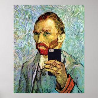 Retrato de Vincent van Gogh Selfie Póster