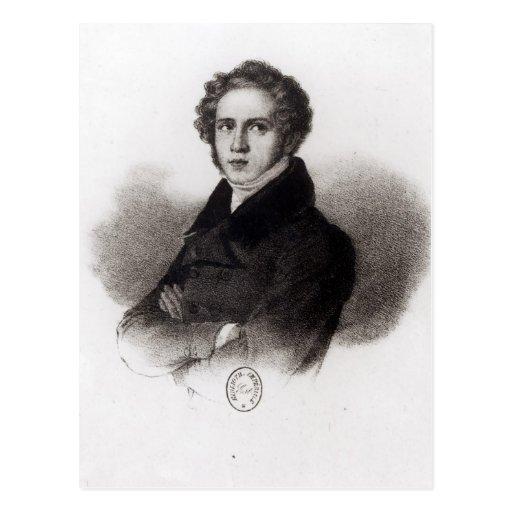 Retrato de Vincenzo Bellini Tarjeta Postal